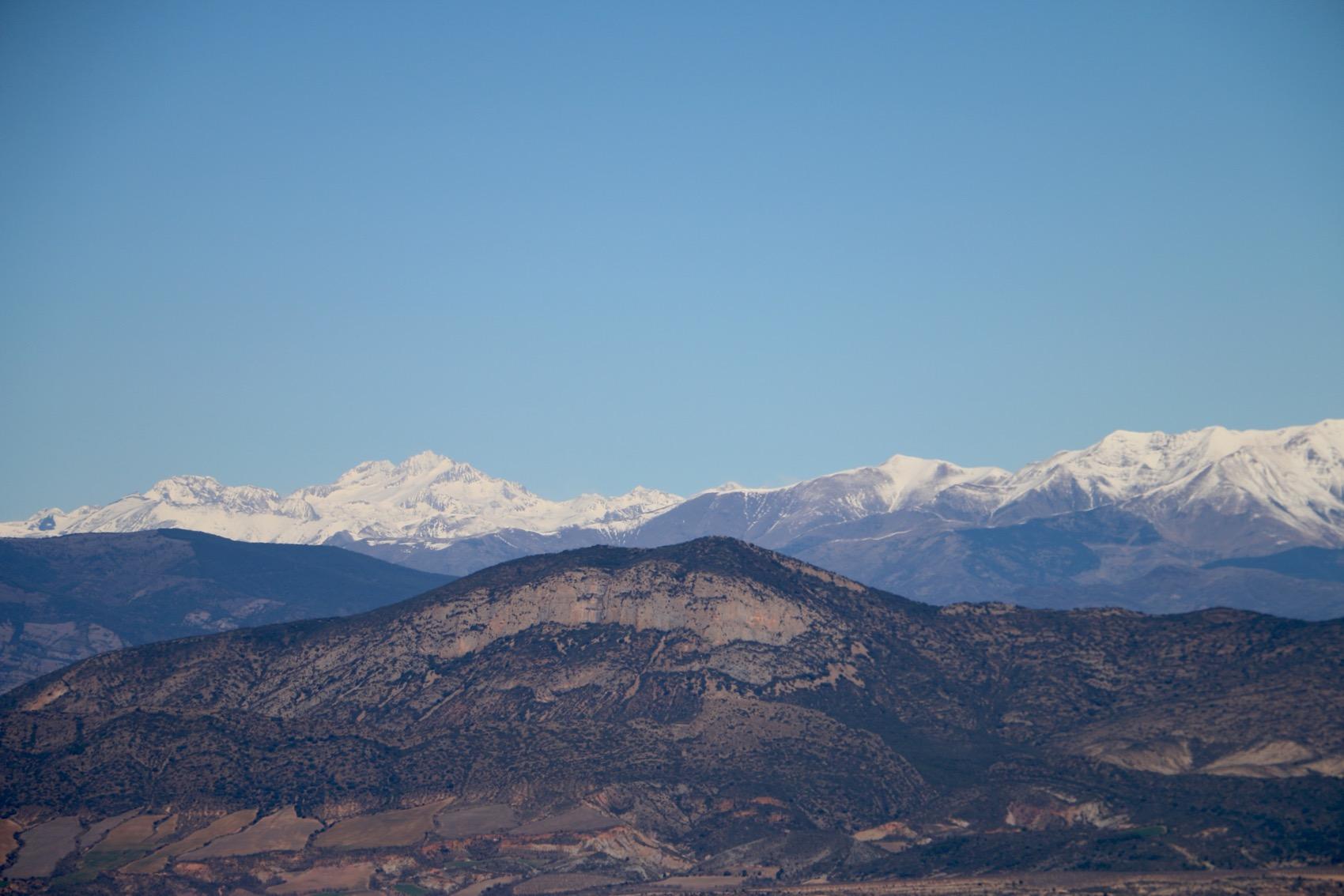 Visió desde la serra del Montsec(Coll de comiols).